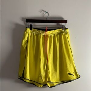 Yellow Puma Shorts